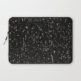 Black and white shiny glitter sparkles Laptop Sleeve
