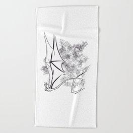 The Happy Dragon Beach Towel