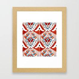 red bali ikat Framed Art Print