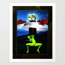 Genesis I (collaboration w/ Ricardo Stacey) Art Print