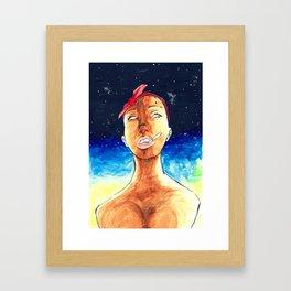 No Eyes Framed Art Print