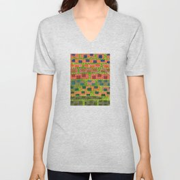 Added Color to a Colorful Wall Unisex V-Neck