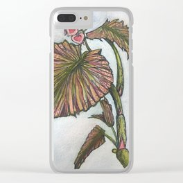 My Begonias Clear iPhone Case