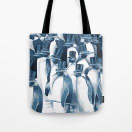 A Gathering of Gentlemen (square format) Tote Bag