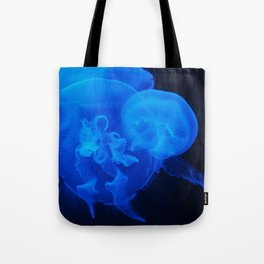 Blue Jelly Fish Tote Bag