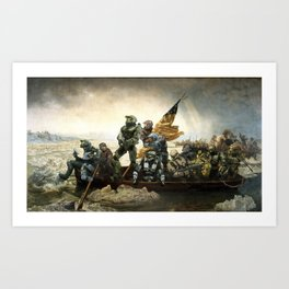 Master Chief Crossing the Delaware Art Print