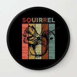 Squirrel Retro Wall Clock