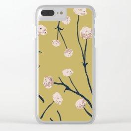 Dandelions on Ochre Clear iPhone Case