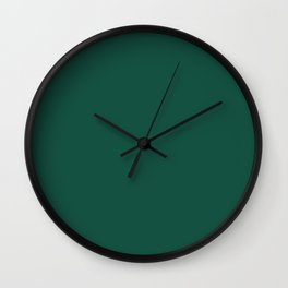 Solid Jewel Tone Green Wall Clock