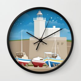 Lefkada, Lighthouse at the Castle (GR) Wall Clock