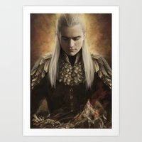 legolas Art Prints featuring Legolas Desolation of Smaug by Alba Palacio