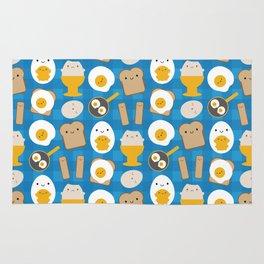 Kawaii Eggs For Breakfast Rug