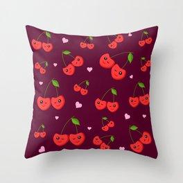 Cherry Party Throw Pillow