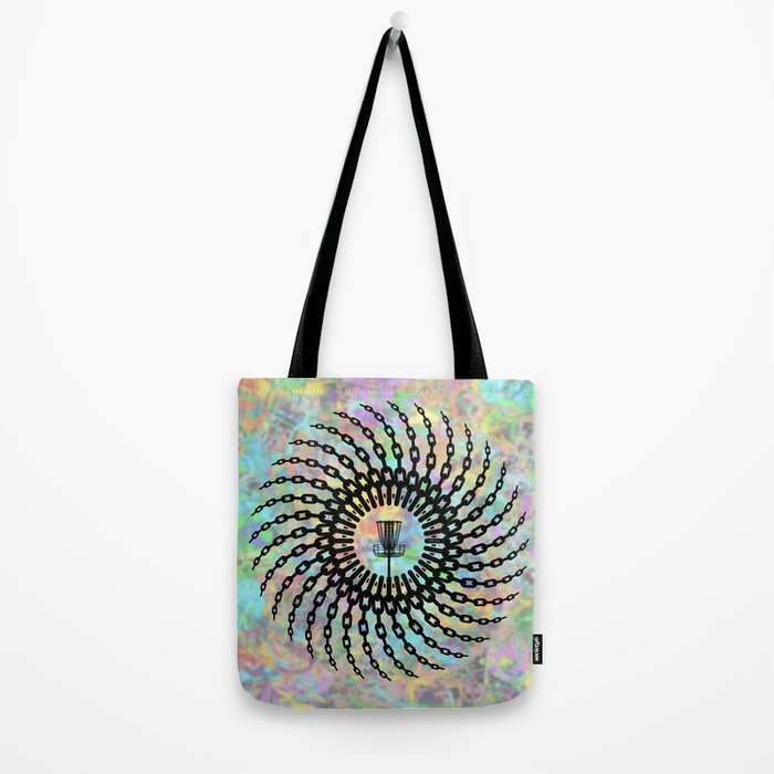 Disc Golf Basket Chains Tote Bag