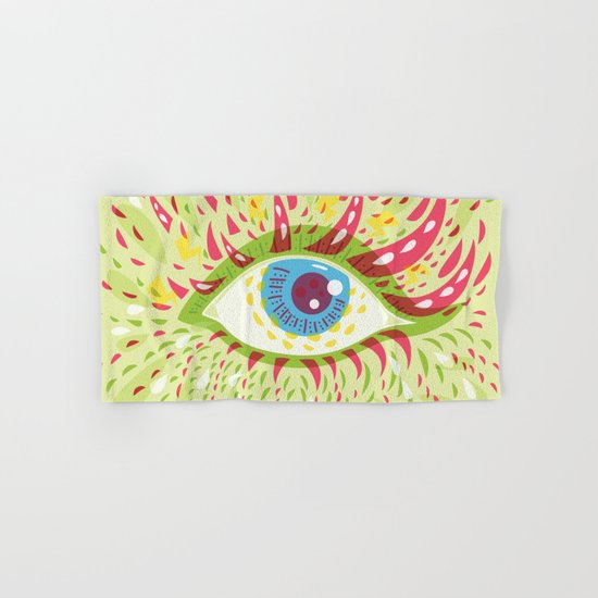 Front Looking Psychedelic Eye Hand & Bath Towel