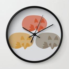 Resting Renard Wall Clock
