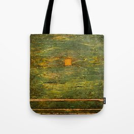 Square (Green Abstract) Tote Bag