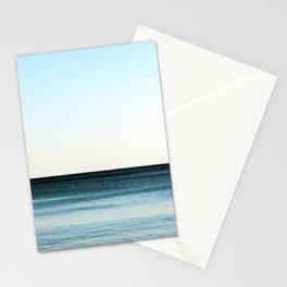 Clean beautiful seascape. Ocean horizon. Nautical background Stationery Cards