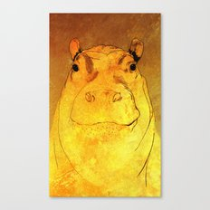 Golden Hippo Canvas Print