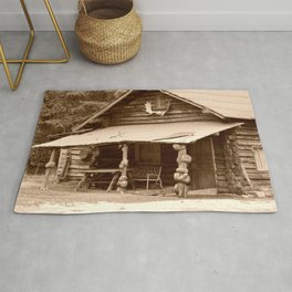 Old Log Cabin Rug