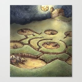 Dark Circles Canvas Print