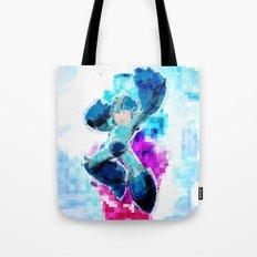 Mega Man WaterPixel (created initially for Storm Unity's Mega Man Marathon) Tote Bag