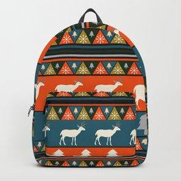 Festive Christmas deer pattern Backpack