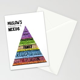 Maslow's Hierarchy of Needs II Stationery Cards