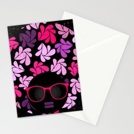 Afro Diva Pink Purple Stationery Cards