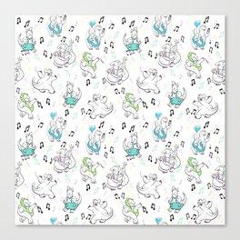 Dancing Dinos Canvas Print