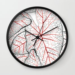 Heart leaves 2 Wall Clock