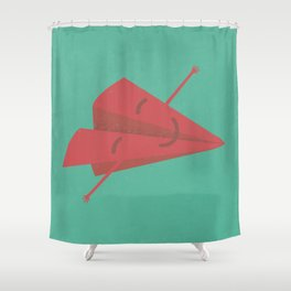 Paper plane Shower Curtain