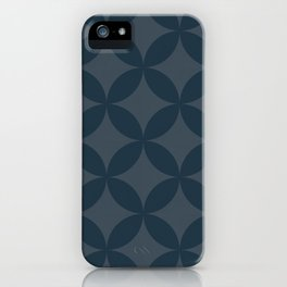 Blue geometry 2 iPhone Case