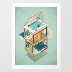 Creative house Art Print