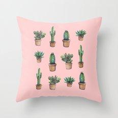 cactus pink, original version are BAck!! Throw Pillow