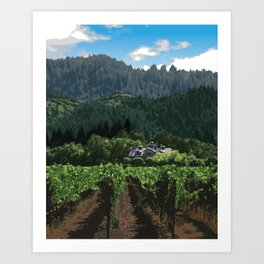 Napa Valley - Far Niente Winery, Oakville District Art Print