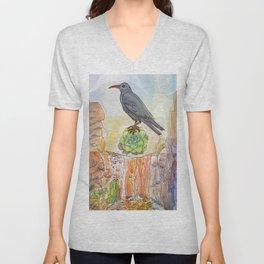 Bird on the Flower / Graja y Bejeque Unisex V-Neck