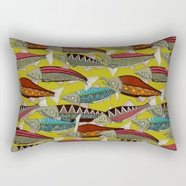 Alaskan salmon chartreuse Rectangular Pillow