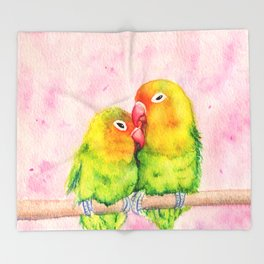 Lovebirds Throw Blanket