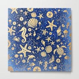 SEALIFE BACKGROUND - Sand INVERTED 15 Metal Print