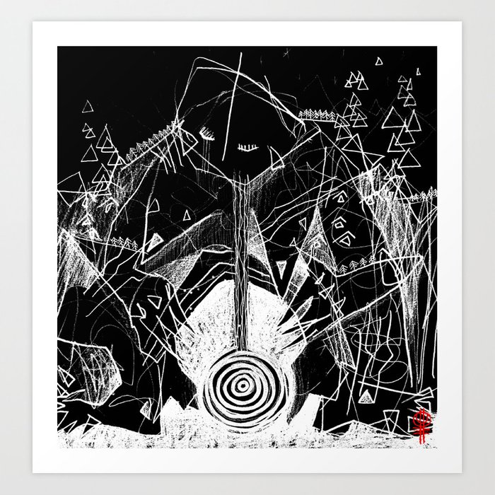 Trölllkona Art Print