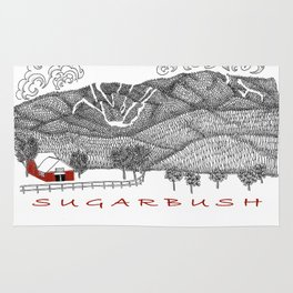 Sugarbush Vermont Serious Fun for Skiers- Zentangle Illustration Rug