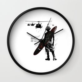 Charlie Dont Surf Wall Clock