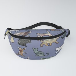 Cats shaped Marble - Violet Blue Fanny Pack