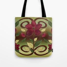 Scarlet Flora Tote Bag