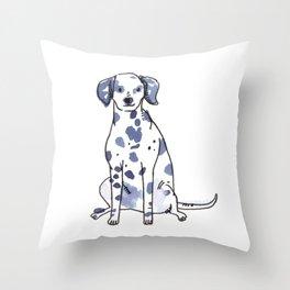 Sawyer - Dog Watercolour Throw Pillow