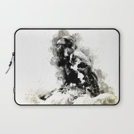 Watercolor Crow, Black and White Crow, Crow Painting, Cool Crow, Ink Crow Laptop Sleeve