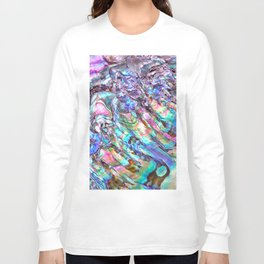 Shimmery Rainbow Abalone Mother of Pearl Long Sleeve T-shirt