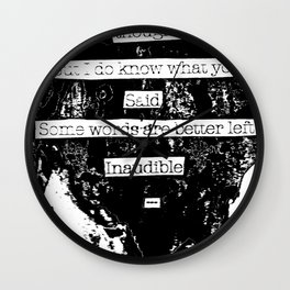 Inaudible... Wall Clock