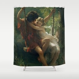 Springtime by Pierre-Auguste Cot 1873, French Shower Curtain